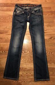 Euc Boot Bling Womens Jeans X Celine 27 Buckle Cut Rock Distressed Revival 34 q7vtWxZ