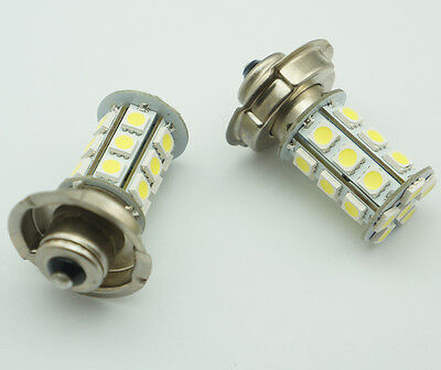 2x 12V P26 S 24 SMD LED White Motorbike Motorcycle Headlight Car Bulb Lamp 6000K