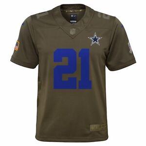 1b2bba855 Image is loading Ezekiel-Elliott-Dallas-Cowboys-Nike-Youth-Salute-to-