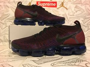 cheap for discount 312aa d3f20 Details about NIKE AIR VAPORMAX FLYKNIT 2 BLACK TEAM RED RACER BLUE  942842-006 Mens SZ 14
