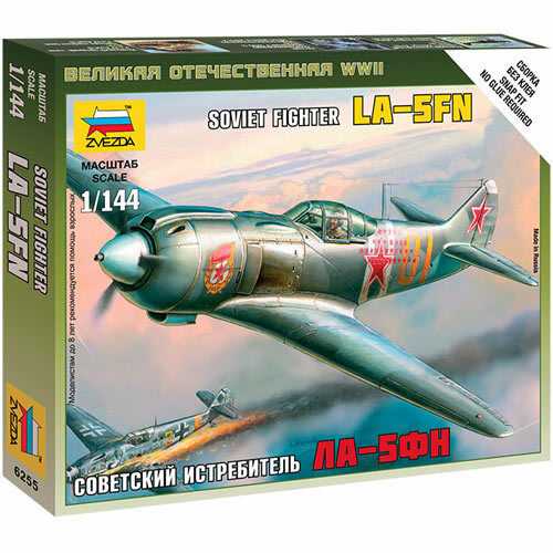 ZVEZDA 6255 Soviet WWII Fighter La-5FN 1:144 Snap Fit Aircraft Model Kit