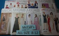 Mccall's All Patterns Are Size 8-12 (8,10,12) U-pick 30+ Listed 9313 Nip