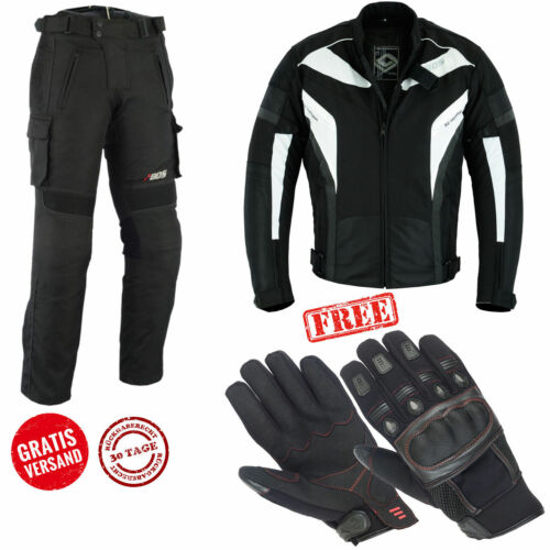Combinata Moto Uomo Giacca e Pantaloni Tessile Nero Biker Moto Tessile STATION WAGON