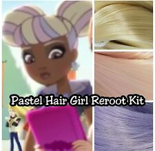 Ever After High Pastel Girl with Buns for OOAK Doll Reroot Nylon Hair Kit