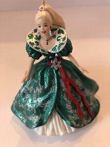 Barbie Christmas Ornament.Details About Holiday Barbie Christmas Ornament Hallmark 1995 3rd In Series Glitter