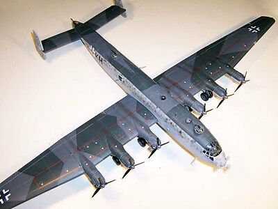 Ju-390 Germany Junkers Bomber Airplane Wood Model Replica Large Free Shipping
