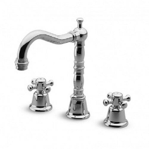 Zucchetti Delfi Mixers 3 hole basin mixer swivel spout Z46353.8008
