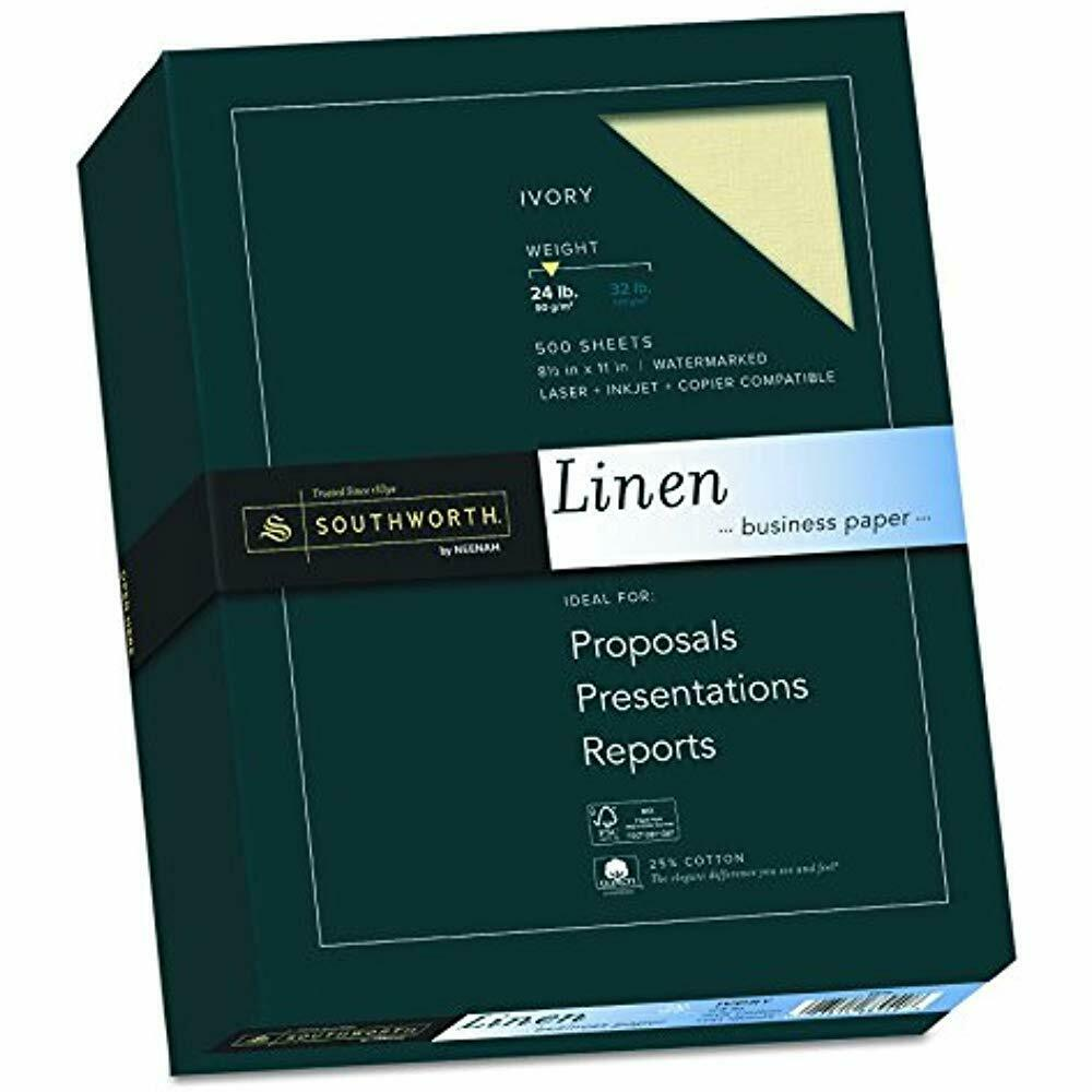 SALE Fine Linen Paper, Size 24, Ivory, 500 Sheets (564C) Writing Office Products
