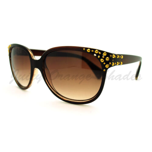 Designer Fashion Sunglasses Womens Elegant Studded Eyewear