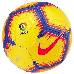 Soccer Ball Nike La Liga Strike Yellow Football Size 5 Ballon Fussball Pallone
