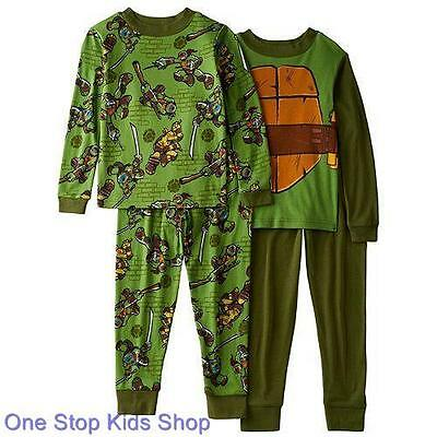 NINJA TURTLES Boys 4 6 8 10 Pjs Set PAJAMAS Long Sleeve Shirt Pants