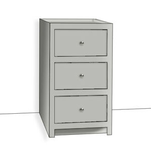 Image Is Loading Pine Country Style Painted 3 Drawer Kitchen Base