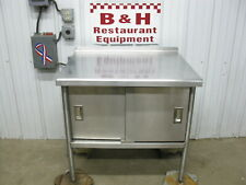 36 Stainless Steel Kitchen Work Table Cabinet With Under Shelf 2 Doors 3 X 30