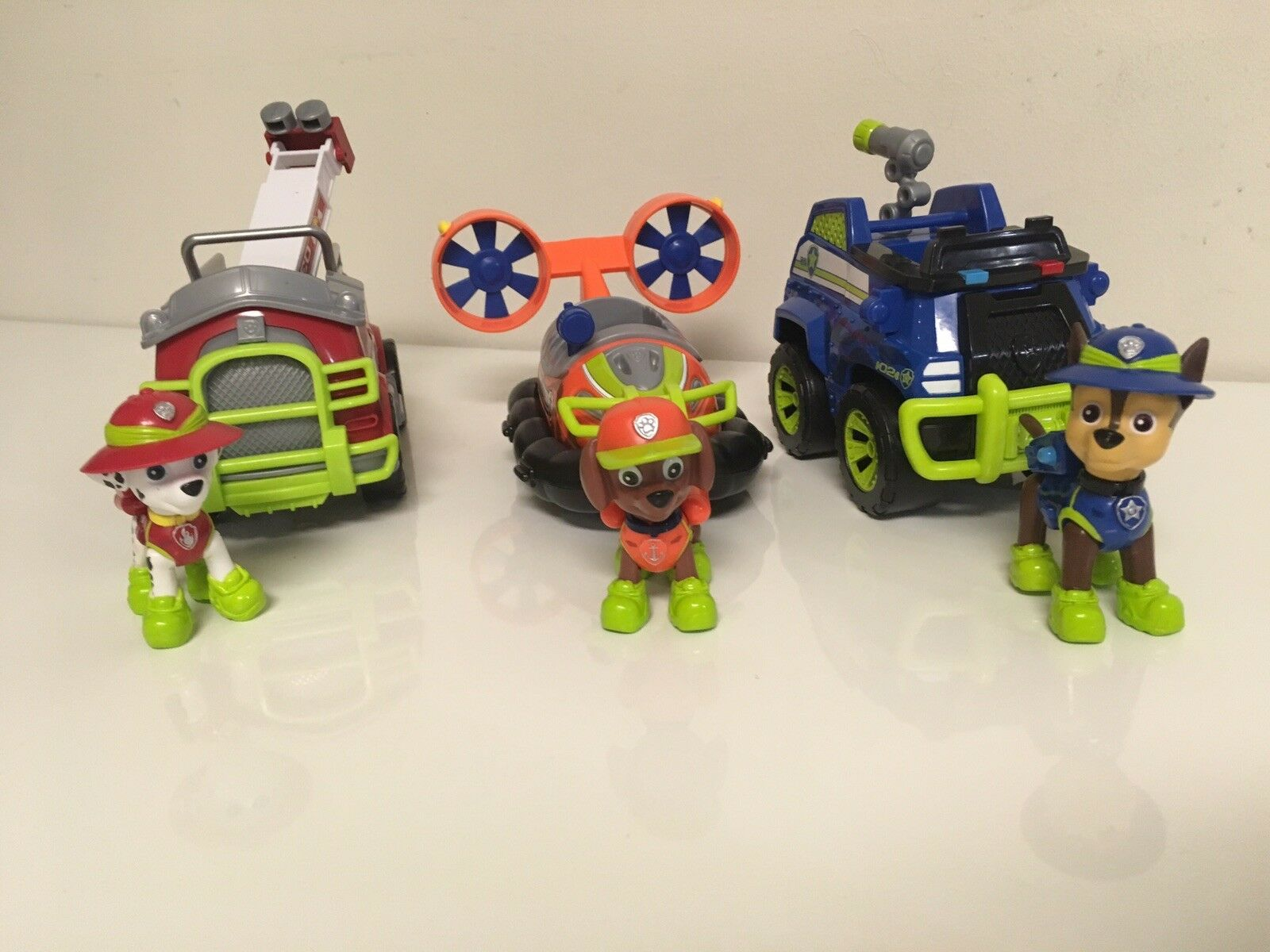 Paw Patrol Jungle Vehicle & Figure Marshall / Chase & Zuma Lot