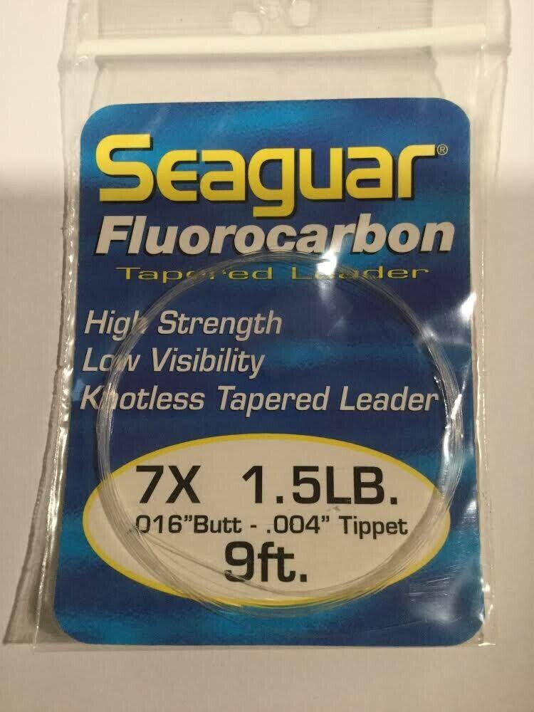 CLOSEOUT  SEAGUAR FLUoroautoBON LEADER  7X  1.5LB  9FT  9 PACKS