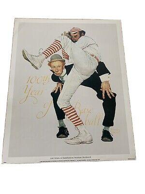 Norman Rockwell Sports Print 100 YEARS OF BASEBALL