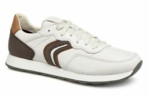 frijoles papelería Mejorar  Geox Respira Vincit C Men's Sneakers Low Shoes U845VC White/Dk Coffee  8058279528970   eBay