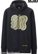 YAYOI KUSAMA x UNIQLO 'Pumpkin' MoMA SPRZ NY Art Hoodie Sweatshirt L Black *NWT*