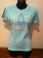 MXPX Heart Sparrow Logo Light Blue T-SHIRT NEW OFFICIAL MERCH SIZE Fitted Medium