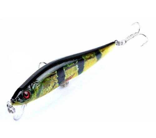 Bass Pike Perch Trout Shallow Minnow Predator Fishing Lure 10cm 10g