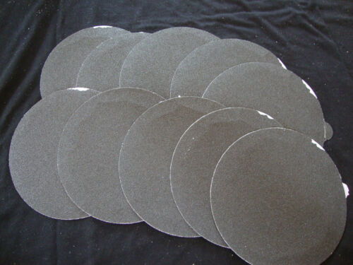 """5/"""" Inch 10 Sandpaper Disks 220 Grit Peel and Stick Adhesive Abrasive Sand Paper"""