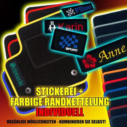 Tappetini con logo Stick /& bordo colorato NISSAN MICRA k12 anno 2003-2010