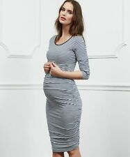 Isabella Oliver Blue White Striped Maternity Dress Size 3 UK12 Brand New RRP £99
