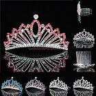 NEW Crystal Flower Girl Tiara Crown Kids Rhinestone Princess Headpiece Hair Comb