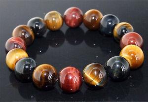 10-Mm-Naturel-Colore-Oeil-de-tigre-pierre-gemme-perles-Hommes-Jewelry-Bracelet-Bangle