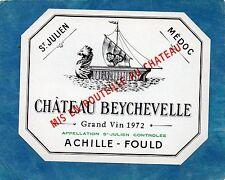SAINT JULIEN 4E GCC VIEILLE ETIQUETTE CHATEAU BEYCHEVELLE 1972 73 CL     §22/05§