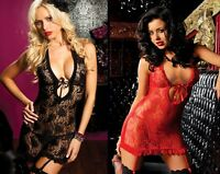 New SEXY Lingerie Hot Lace chemise underwear intimate nightwear set gift