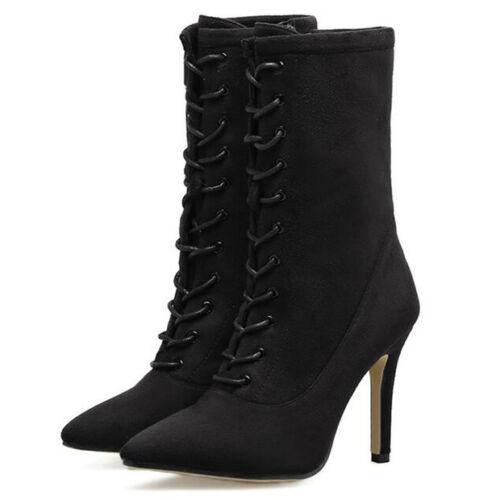 Aiguilles Talons Chaussures Noirl Cm Basses Bottes 10 Cq7tx