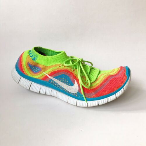 Nike Free 5.0 Flyknit Running Shoes Electric Green