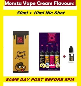 Details about MONSTA Vape Malaysia Strawberry Cake Cream scotch Mothers  Milk Nic Shot e-liquid