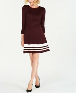 04b274eae13ba $209 JESSICA HOWARD WOMEN RED WHITE STRIPED SWEATER CASUAL COCKTAIL ...