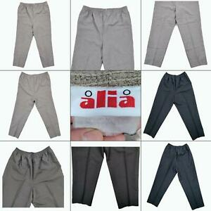 Lot 2 Womens Elastic Waist Pants Size 18 Casual Dress Pull On Slacks 18P Petite