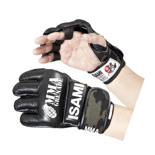 Made in JAPAN ISAMI MMA Open finger gloves Tape type free shipping from JAPAN
