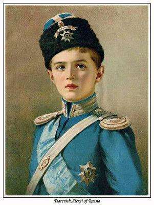 EMPRESS ALEXANDRA AND TSAREVICH ALEXEI OF RUSSIA PRINT.TSAR NICHOLAS II ROMANOV