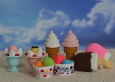 IWAKO Ice cream Puzzle Eraser / 8pc Set (Japan Import)