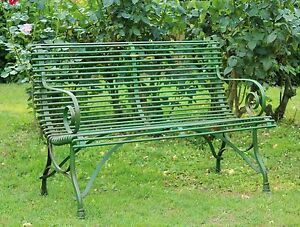 Panchina da giardino in ferro francese a due posti grande - Giardino francese ...