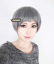 Free! Iwatobi Swim Club Aiichirou Nitori dark gray short thick bob cosplay wig