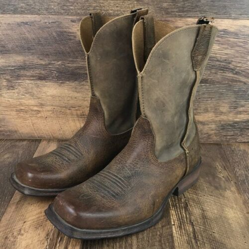 Ariat Rambler Brown Leather Square Toe Boots 9.5