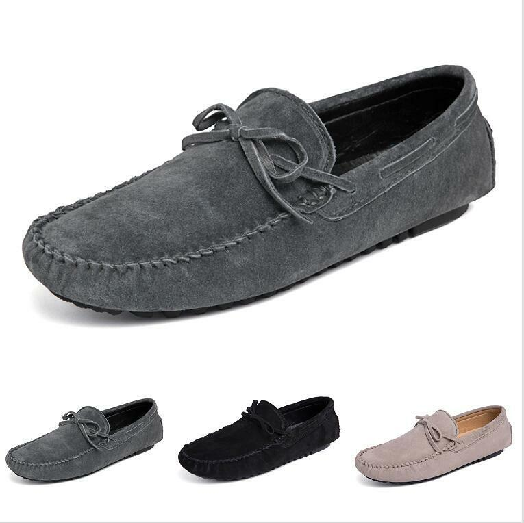 Mens Slip on Driving Moccasin Flats Soft Non-slip Breathable Pumps Loafers sautope