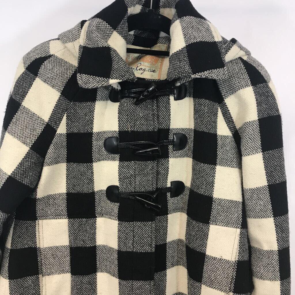 American Rag youth Duffel coat black/ white Buffa… - image 2