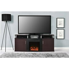 Corner Electric Fireplace Tv Stand Holder Media Entertainment Heater