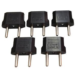 Hot-5Pcs-US-USA-to-European-Euro-EU-Travel-Charger-Adapter-Plug-Outlet-Converter