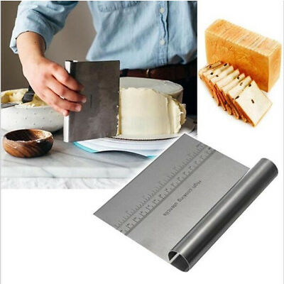Pizza Dough Scraper Cutter Kitchen Flour Pastry Cake Tool Gadget Stainless Steel