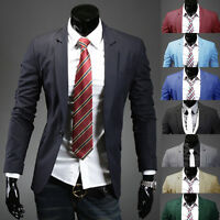 Men's Coat Jacket Blazers Slim Fit Stylish New Fashion Casual One Button Suit