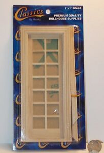 Dollhouse miniature wood single french door 1 12 1 inch for 12 inch interior door