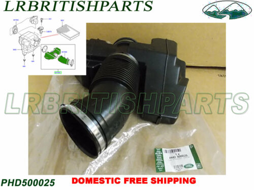 GENUINE LAND ROVER AIR CLEANER DUCT RANGE ROVER SPORT 05-09 LR3 NEW PHD500025